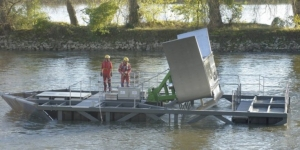A tidal HydroQuest installed in Orleans. (Photo credit: Orléans Council)
