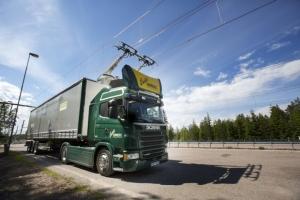 Electric road hybrid truck, Scania G 360 4x2  Photo: Tobias Ohls 2016