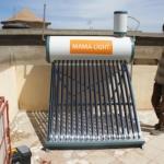 Solar water heater in West Africa