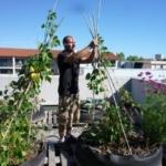 Alex Belin sur le toit de la Clinique Pasteur