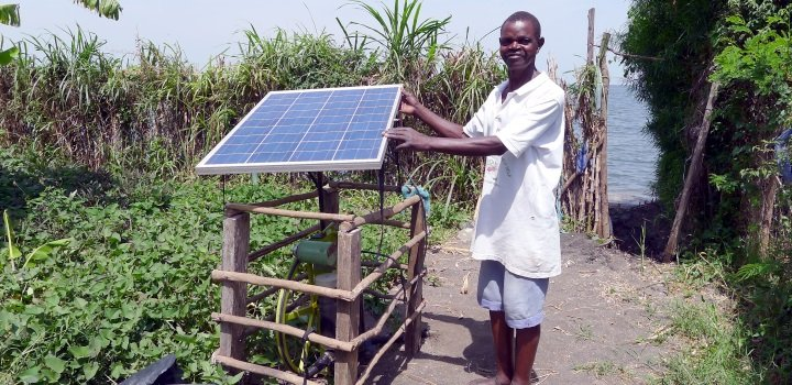 A Sunflower solar powered irrigation pump Credit Futurepump